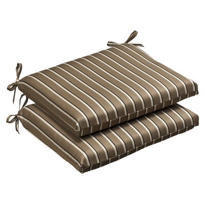 Outdoor Squared Sunbrella Fabric Seat Cushion (Set of 2)