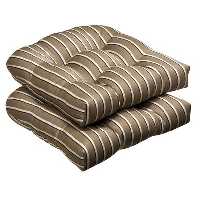 Pillow Perfect Outdoor Sunbrella Fabric Wicker Seat Cushion (Set of 2)