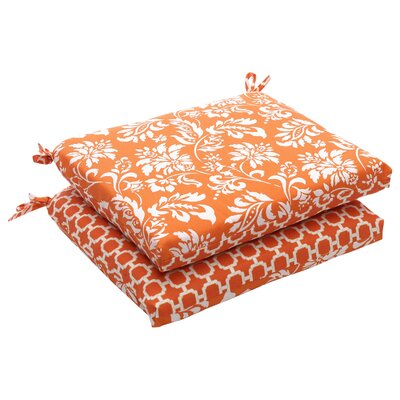 Pillow Perfect Outdoor Squared Reversible Seat Cushion (Set of 2)