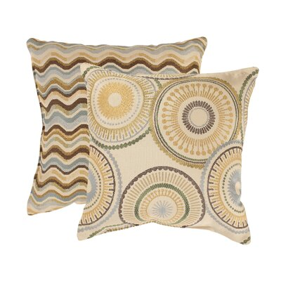Pillow Perfect Riley and Wave Throw Pillows (Set of 2)