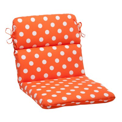 Pillow Perfect Polka Dot Chair Cushion