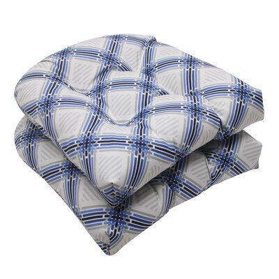 Pillow Perfect Pretty Edge Wicker Seat Cushion (Set of 2)