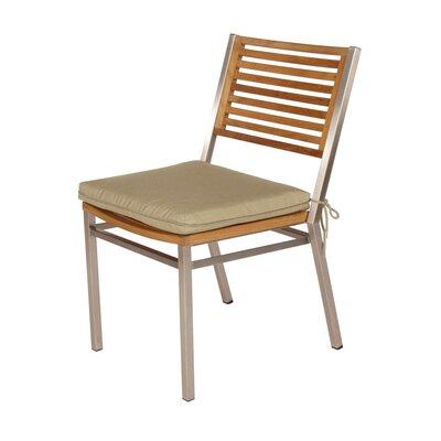 Barlow Tyrie Teak Equinox Teak Dining Side Chair with Cushion