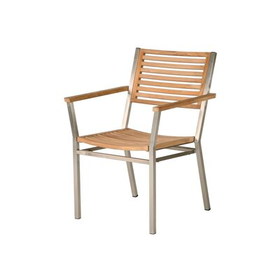 Barlow Tyrie Teak Equinox Teak Dining Arm Chair with Cushion