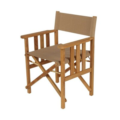 Barlow Tyrie Teak Safari Natural Folding Director Chair