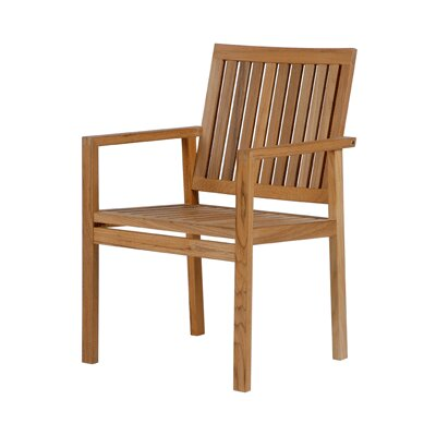 Barlow Tyrie Teak Dining Arm Chair with Cushion
