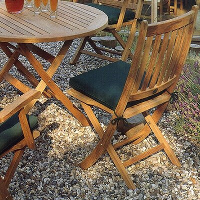 Barlow Tyrie Teak Ascot Dining Side Chair with Cushion
