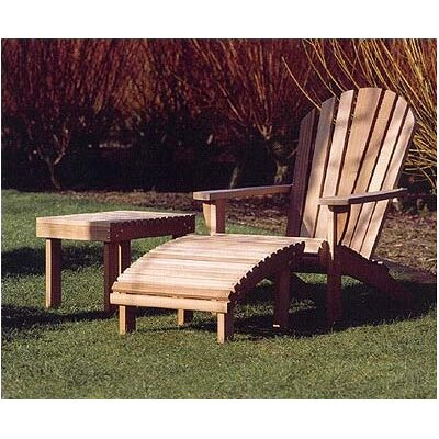 Barlow Tyrie Teak Adirondack Rectangular Side Table
