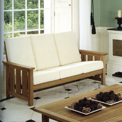 Barlow Tyrie Teak Mission Three Seater Deep Seating Set