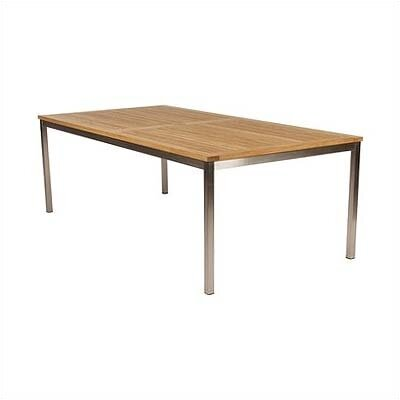 Equinox Stainless and Teak Side Table