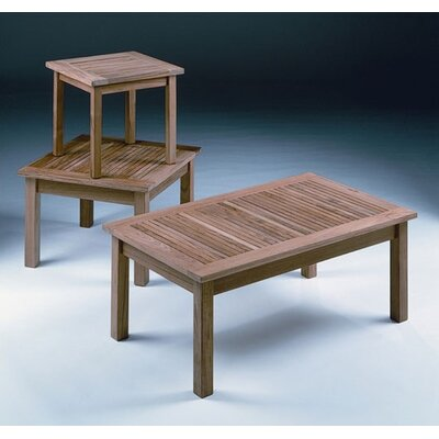 Barlow Tyrie Teak Monaco Square Low Coffee Table
