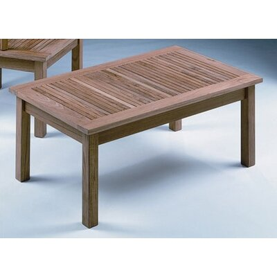 Barlow Tyrie Teak Monaco Rectangular Low Coffee Table