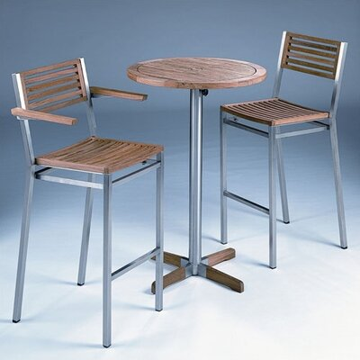 Barlow Tyrie Teak Equinox 2-Seat Outdoor High Dining Set
