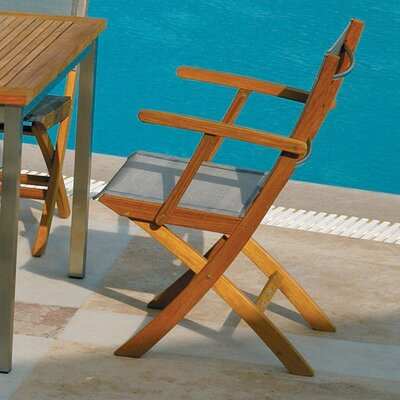 Barlow Tyrie Teak Horizon Carver Folding Lounge Chair