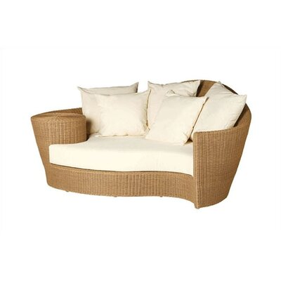 Dune Woven Daybed and Ottoman with Cushions