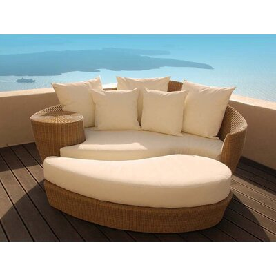 Barlow Tyrie Dune Woven Daybed and Ottoman with Cushions