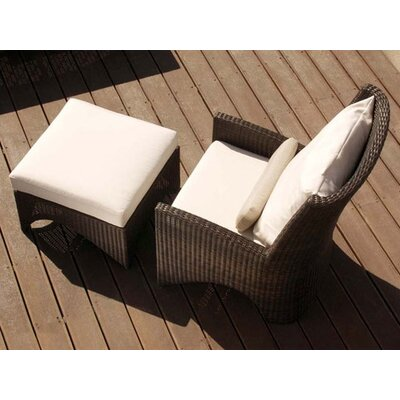 Barlow Tyrie Teak Savannah Woven Deep Seating Arm Chair with Cushion