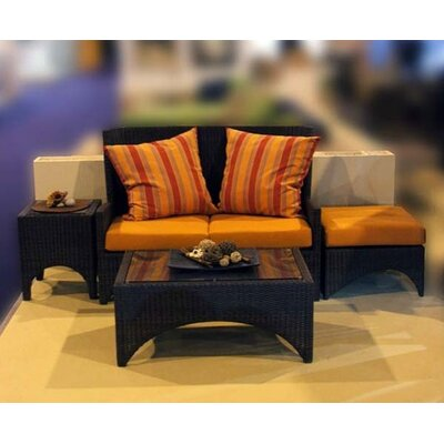 Barlow Tyrie Teak Savannah Woven Deep Loveseat with Cushions