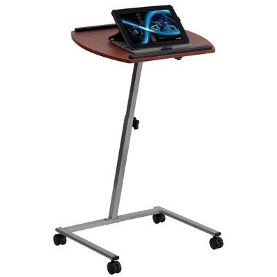 Flash Furniture Angle and Adjustable Height Mobile Laptop Computer Table with Top