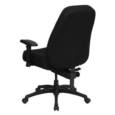 Flash Furniture Hercules Series High-Back Big and Tall Fabric Office Chair with Height Adjustable Arms and Extra Wide Seat