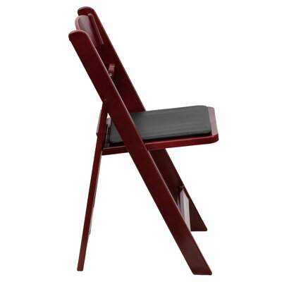 Flash Furniture Resin Folding Chair with Vinyl Padded Seat