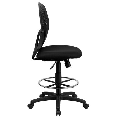 Flash Furniture Mid-Back Designer Back Drafting Stool with Padded Seat