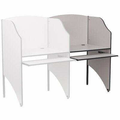 Flash Furniture Add On Study Carrel Desk