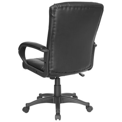 Flash Furniture Mid-Back Leather Office Chair with Multi-Layer Padded Design