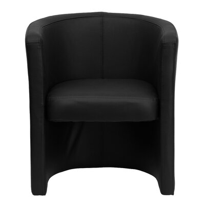 Flash Furniture Leather Guest Chair with Barrel Shaped