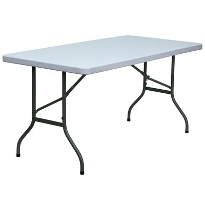 Flash Furniture Blow Molded Plastic Folding Table