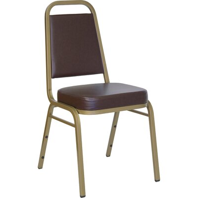 """Flash Furniture 2.5"""" Hercules Series Trapezoidal Back Stacking Banquet Chair with Gold Frame"""