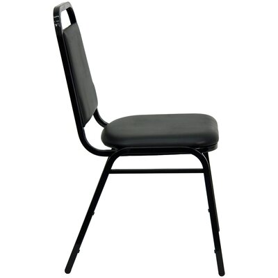 "Flash Furniture 1.5"" Hercules Series Trapezoidal Back Stacking Banquet Chair with Black Frame"
