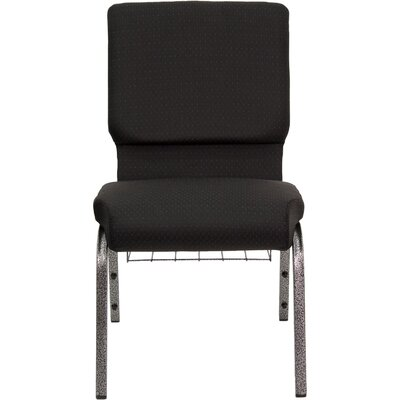 Flash Furniture Hercules Series 18.5'' Wide Church Chair with 4.25'' Thick Seat and Communion Cup Book Rack