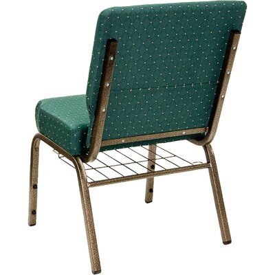 Flash Furniture Hercules Series 21'' Extra Wide Church Chair with 4'' Thick Seat and Communion Cup Book Rack
