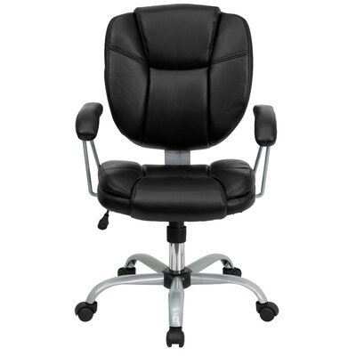Flash Furniture Mid-Back Task Chair with Platinum Frame