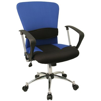 Flash Furniture Contemporary Two Tone Mid Back Office Chair With Adjustable L