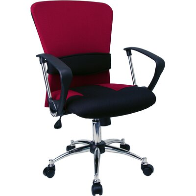 Flash Furniture Contemporary Two-Tone Mid-Back Office Chair with Adjustable Lumbar Support