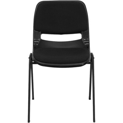Flash Furniture Hercules Series Ergonomic Shell Stack Chair in Black