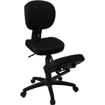 Flash Furniture Low-Back Height Adjustable Task Chair with Dual Wheel