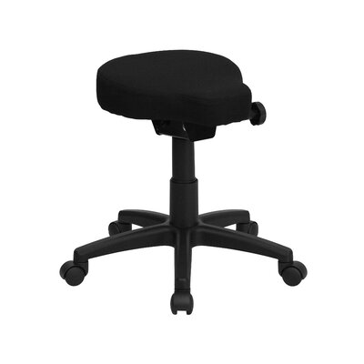 Flash Furniture Height Adjustable Utility Stool with Dual Wheel