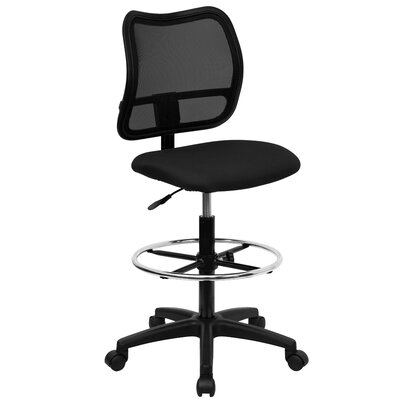 Flash Furniture Height Adjustable Drafting Stool with Cutout