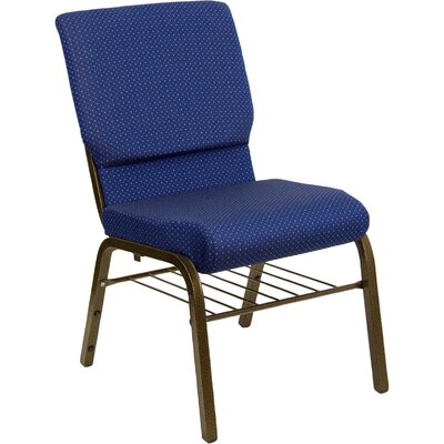 "Flash Furniture Hercules Series 18.5"" Wide Church Chair with 4.25"" Thick Seat Book Rack"