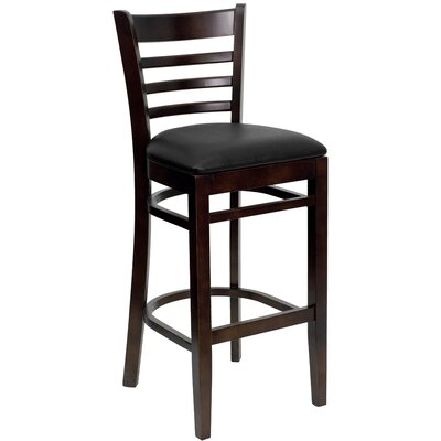 Flash Furniture Hercules Series Ladder Back Wooden Restaurant Bar Stool