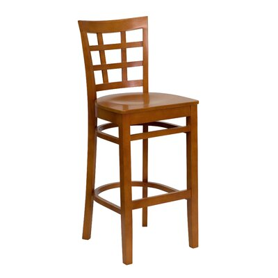 Flash Furniture Hercules Series Window Back Wooden Restaurant Bar Stool