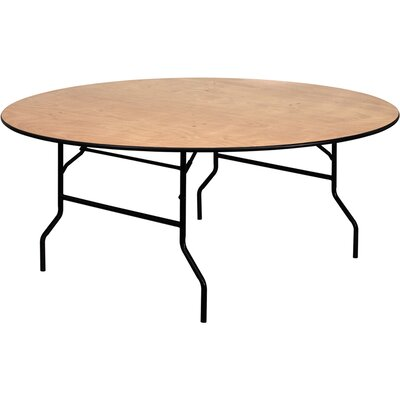 Flash Furniture Round Wood Folding Banquet Table with Clear Coated Finished Top