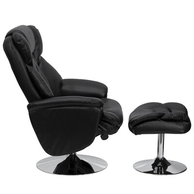 Flash Furniture Transitional Leather Club Recliner and Ottoman