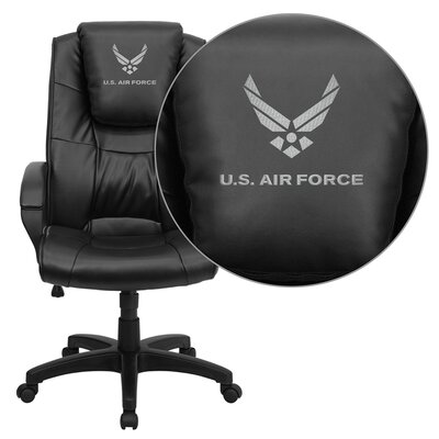 Flash Furniture NCAA Embroidered High-Back Leather Executive Chair