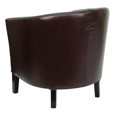 Flash Furniture Leather Barrel Shaped Reception Lounge Chair
