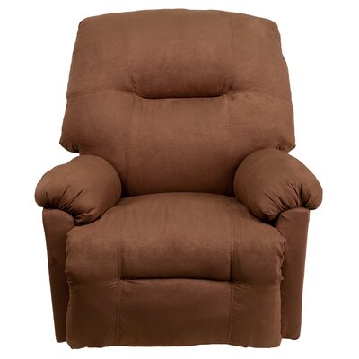 Contemporary Microfiber Power Chaise Recliner