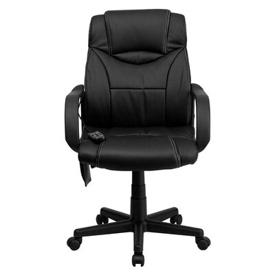 High-Back Leather Executive Swivel Massaging Office Chair with Headrest